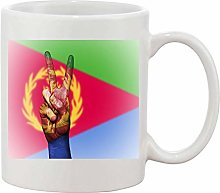 Gifts & Gadgets Co. Eritrea Flag Peace Hand Sign