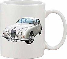 Gifts & Gadgets Co. Jaguar White Saloon Mug 11 oz