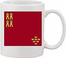 Gifts & Gadgets Co. Murcia Spain Flag Mug 11 oz