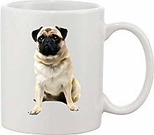 Gifts & Gadgets Co. Pug Image Mug 11 oz Heat