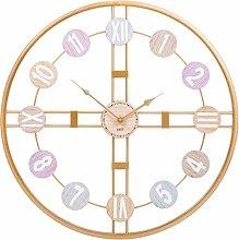 Giggi 60CM Wall Clock, Multicoloured Large Wall