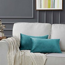 Gigizaza Velvet Cushion Covers 12 x 20 Inch Small