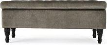Gillian Storage Ottoman Hykkon Upholstery: Gray