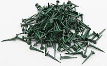 GIMP PINS 13MM 100g GREEN UPHOLSTERY SUPPLIES