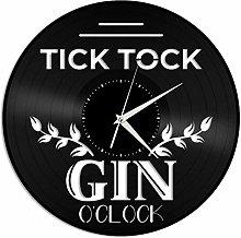 Gin Vinyl Wall Clock, Vinyl Record Home Decoration