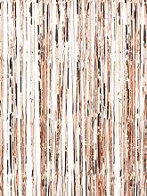 Ginger Ray Fringe Curtain, Rose Gold