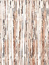 Ginger Ray Fringe Curtain, Rose Gold