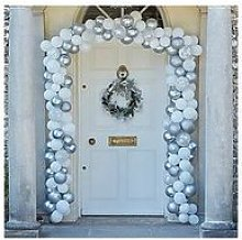 Ginger Ray Merry Everything Silver Balloon Door