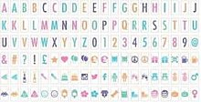 Ginger Snap 120 Extra Coloured Letters, Numbers &