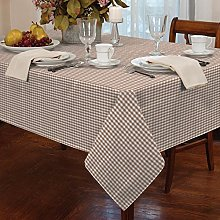 "Gingham Beige 72"" Rnd Tablecloth"