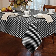 "Gingham Black 54"" x 72"" Tablecloth"