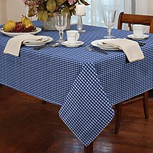 "Gingham Blue 72"" Rnd Tablecloth"
