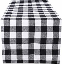Gingham Check Dining Table Runner, Decorative