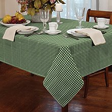 "Gingham Green 72"" Rnd Tablecloth"