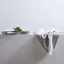 Gingham Napkins - Set of 4, White Grey, One Size