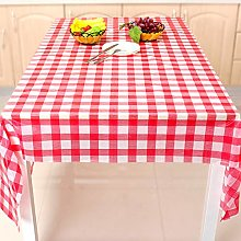 Gingham picnic tablecloth, Red checkered