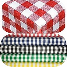 Gingham PVC Vinyl Table cloth Protector RECTANGLE