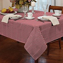 "Gingham Red 60"" Rnd Tablecloth"