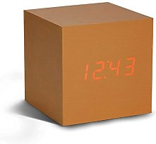 Gingko Cube Copper Click Clock