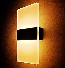 GIOAMH 6W Led Wall Light Aluminum Wall Wash Lights