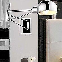 GIOAMH Adjustable Swing Long Arm Wall Light