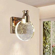 GIOAMH Bedside Crystal Wall Light, Led Wall Sconce