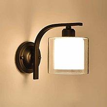 GIOAMH Indoor Wall Light, Black Bedside Reading