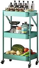 GIOAMH Kitchen Multifunctional Shelf Cart,Foldable