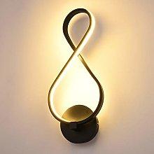 GIOAMH Musical Notes Wall Lamp Creative Led Wall
