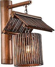 GIOAMH Retro Personality Bamboo Art Inn Lighting