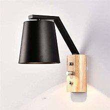 GIOAMH Retro Wall Lamp Simplicity Bedroom Bedside