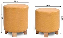 GIOAMH Step Stools,Home Upholstered Footstool