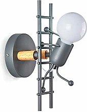GIOAMH Wall Light Wrought Iron, E27 Wall Lamp