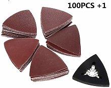 GIPOTIL 100Pcs Sanding Paper+80mm Triangular