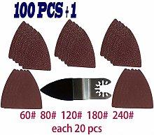 GIPOTIL 100pcs Sanding Sheet Finger Sand Kit