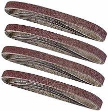 GIPOTIL 20Pcs 13 * 457mm Sanding Belts Mixed Grits