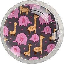 Girafe Elephant, Modern Minimalist Printing