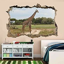 Giraffe Animal Wildlife Wall Art Sticker Mural