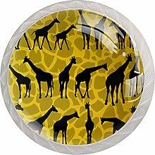 Giraffe Background Drawer Knobs Pulls Cabinet