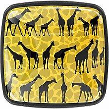 Giraffe Background Kitchen Cabinet Knobs Drawer