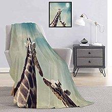 Giraffe Bedding flannel blanket Two Animals Mother