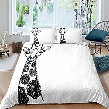 Giraffe Bedding Set Girls,Cute Animals Pattern