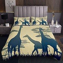 Giraffe Bedspread Safari Wild Animal Coverlet for