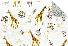 Giraffe Door Mat, Machine Washable Soft Doormat