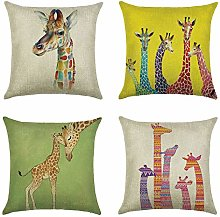 Giraffe Elk Deer Animal Double-sided Print Cushion