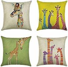 Giraffe Elk Deer Animal Double-sided Print Cushion