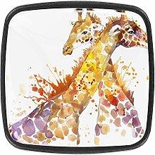 Giraffe Hug Watercolor Animal Splash Texture Pack