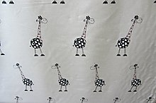 Giraffe Linen Curtain/Craft Fabric Designer