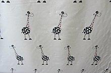 Giraffe Linen Curtain/Craft Fabric Designer