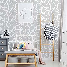 Giraffe Print Pattern Stencil, Nursery Wall